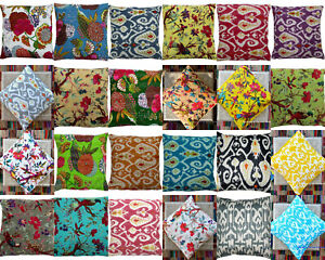 HANDMADE-INDIAN-COTTON-KANTHA-DECOR-CUSHION-BED-PILLOW-COVERS-THROW-16-034