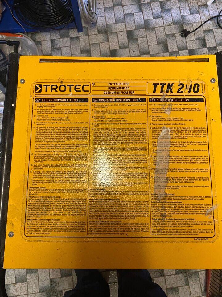 Affugter, Trotec TTK200