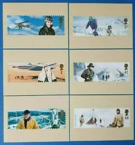 Set of 6 PHQ Stamp Postcards Set No. 252 Extreme Endeavours 2003 CS7