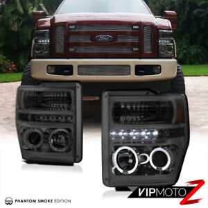 Details about Ford F250 F350 F450 SuperDuty 2008-2010 Smoke Tint Halo on