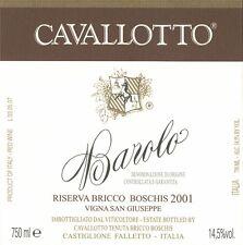 3 BT. BAROLO DOCG RISERVA VIGNA SAN GIUSEPPE 2009  CAVALLOTTO