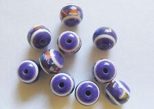 10 Round  Acrylic/Resin Beads - 12mm x 10mm - Purple
