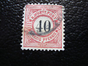 Germany-Wurtemberg-Stamp-Yvert-and-Tellier-N-54-Obl-A9-Stamp-Germany