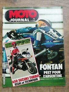 Moto Journal Nº 549 / 25 Mars 1982