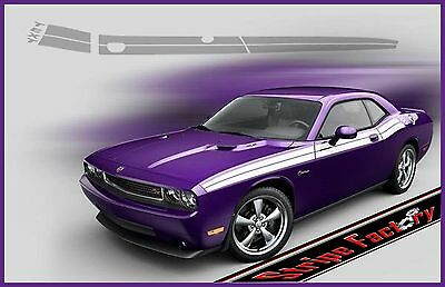 DODGE CHALLENGER TEXT ANGLE DUEL STRIPES KIT 2011 2014 3M GRAPHIC FACTORY STRIPE