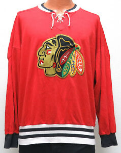 promo code 08e74 6c6f4 Details about vtg Chicago Blackhawks SWEATSHIRT JERSEY XL 90s CCM rare nhl  throwback red shirt