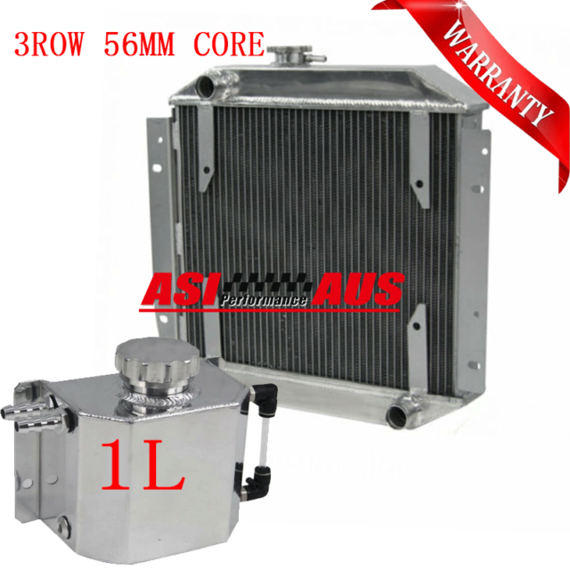 Radiator+1L TANK  For 1971-80 Ford Escort MT 3ROW 56mm Core 73 74 75 76 77 78 79