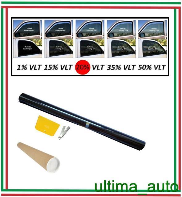 PELLICOLA OSCURANTE PER VETRI AUTO NERO DARK BLACK 20% 76cm x 3m / 76cm x 300cm