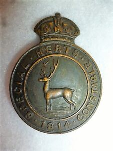 UK-Hertfordshire-034-Herts-034-Special-Constabulary-Badge-1914