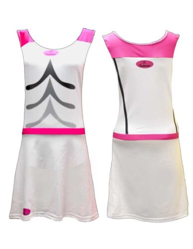 Tenniskleid Tank-top Sport BH Bra Tight Damen tennis-Rock Flamingo Chabaane