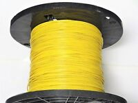 16 Gauge Wire Yellow 500' On Spool Primary Awg Stranded Copper Power Ground Vw-1