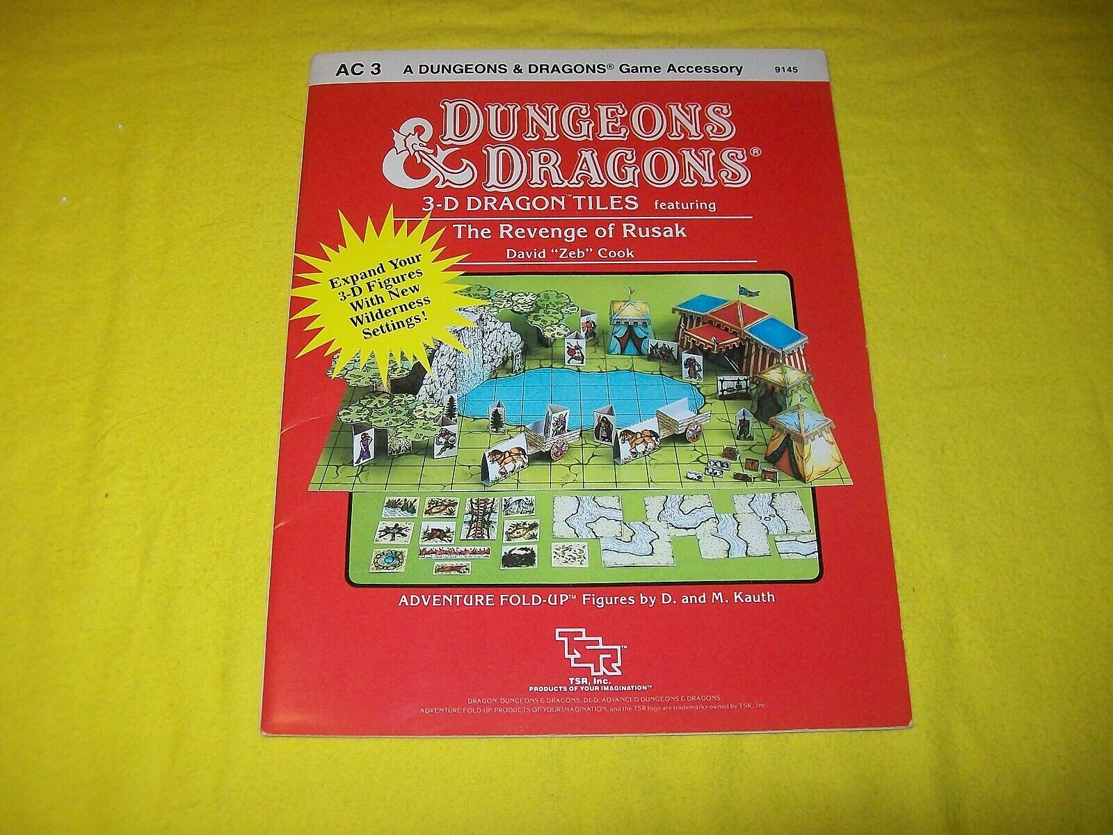 AC8 THE REVENGE OF RUSAK AC3 DUNGEONS & DRAGONS TSR 9145 - 1 MODULE