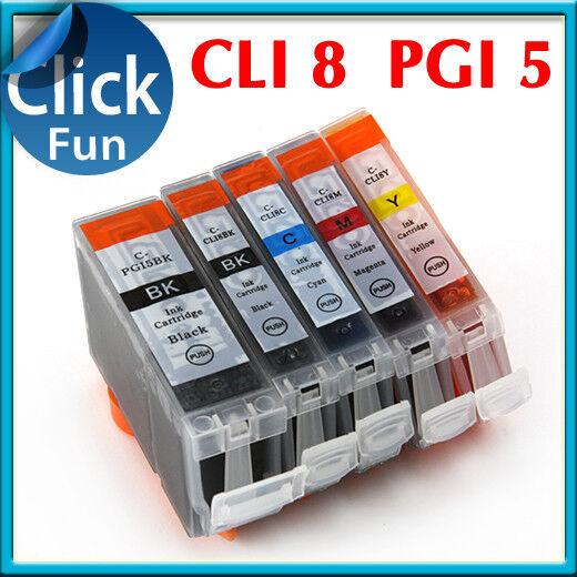 25 x INK  PGI5Bk CLI8 PGI 5bk for Canon MP500 MP610 MP600R MX850 ip4200 Pritner
