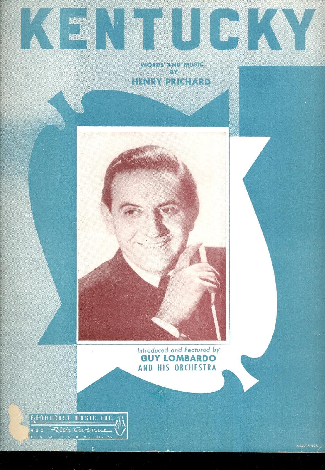 Guy Lombardo partituras partituras partituras  Kentucky   solo para ti