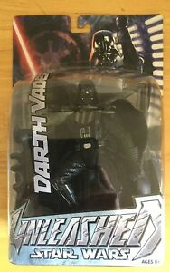 Star-Wars-UNLEASHED-Figure-DARTH-VADER-2005-Hasbro-NEW-in-Package