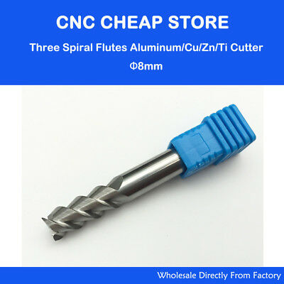 Newest 5x Single Flute Router Bit For Aluminium Solid Carbide CNC End Mill UK