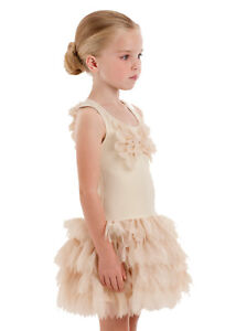 NWT-2018-Kate-Mack-Girls-039-Good-as-Gold-Tulle-Dress-Size-8