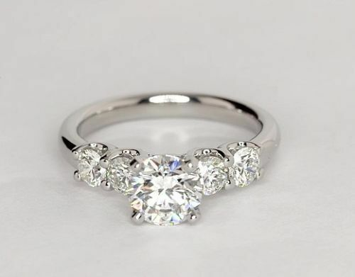 2.10 Ct Round Cut Diamond Engagement Ring 14K Fine White gold Rings Size 5 6 7 8