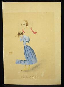 Florine-and-Rishi-Drawing-Caricature-Original-Xixth-Monogrammed-in-Determine