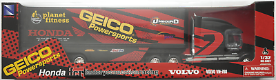 RüCksichtsvoll Newray - Volvo Vn-780 Race Truck Honda Geico Powersports 1:32 / Spur 1 Neu/ovp