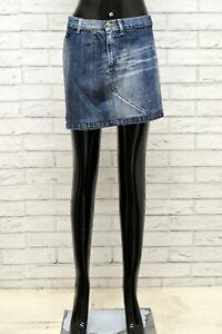 Gonna-GAS-Donna-Taglia-Size-40-S-Pants-Shorts-Skirt-Woman-Cotone-Corto-Mini-Blu