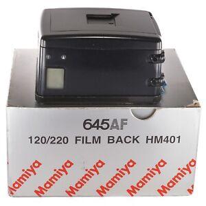 Mamiya-film-back-120-220-HM401-for-645AF-645AFD-II-III-Boxed-TI1517