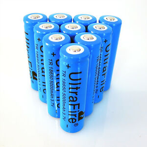 10x-Rechargeable-Li-ion-Deep-blue-Battery-5000mAh-BRC-3-7V-18650-For-Led-Torch