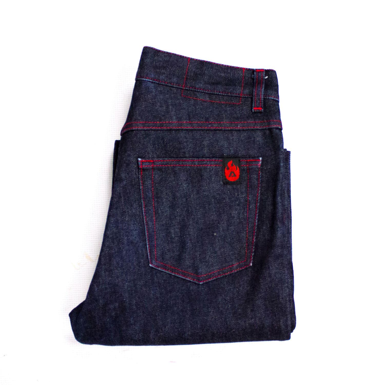 Acne  Women's Dark bluee RAW Stiff Denim Boot Cut Jeans Size 28 33