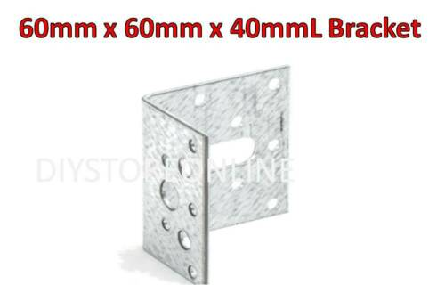Strong Heavy Duty Angled L Bracket Home DIY Building Joinery Timber Frame Fixing