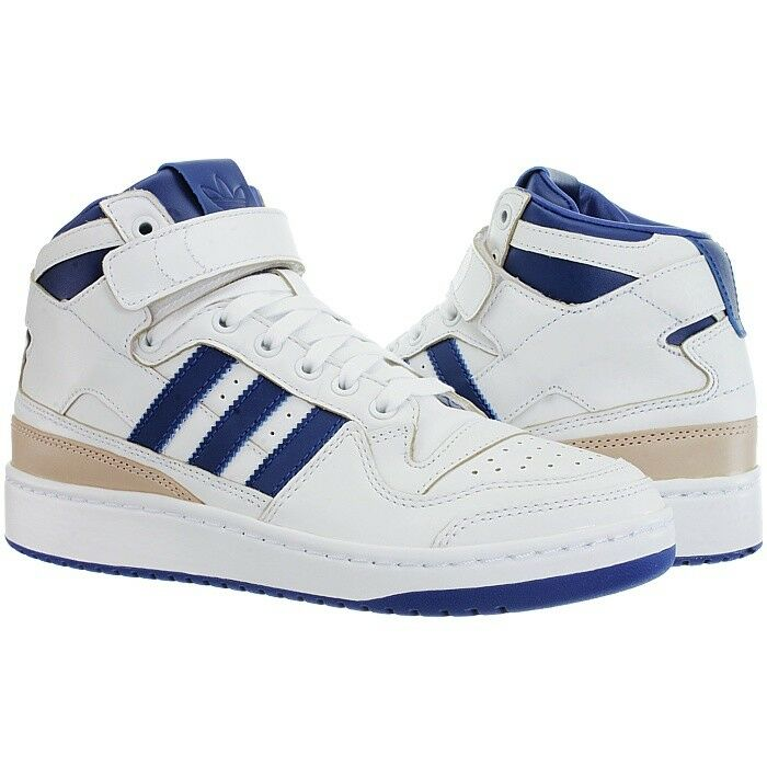 Adidas Forum Mid weiß Herren Mid-Top Basketball Leder Retro Sneakers 80s Leder Basketball NEU 22e090