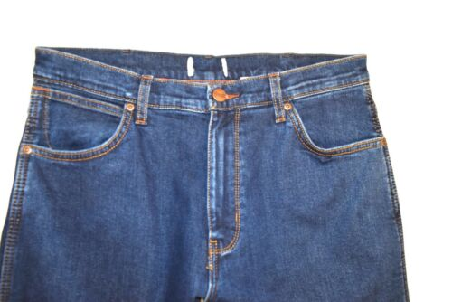 SECONDS Mens Ex Wrangler Fleece lined Regular Fit Jeans /'Indigo/' RRP £95 WA132
