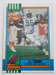 American Football Card💎1990💎Topps - Miami Dolphins - T.J. Turner🌟331🌟