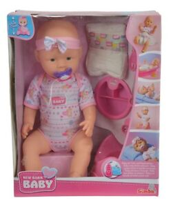 Simba-105039005-New-Born-Baby-Babypuppe-Mit-Trink-Und-Naessfunktion-43cm-Neu