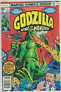 GOZILLA-KING-OF-THE-MONSTERS-1-VF-NM-1977-MARVEL-BRONZE-AGE-COMICS