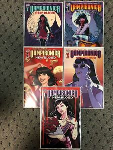 VAMPIRONICA-NEW-BLOOD-1-A-B-C-D-E-5-COVER-SET-2019-NM-ARCHIE