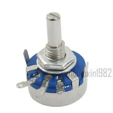 WH5-1A 100K Ohm 16mm Shaft Single Turn Rotary Taper Potentiometer 30pcs