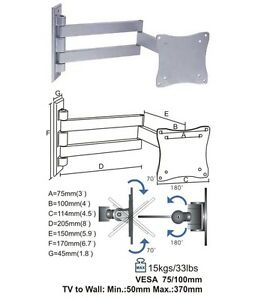 3D-LED-LCD-TV-CANTILEVER-WALL-MOUNT-BRACKET-15-17-19-22-101