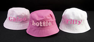 b16293aaca289 Image is loading PERSONALISED-EMBROIDERED-NAME-BABY-SUN-HAT-CAP-BOY-