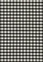 "Black & White 1/4"" Gingham check fabric/material - FREE UK P&P"