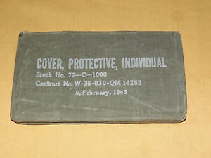 VINTAGE-1945-WWII-US-ARMY-INDIVIDUAL-PROTECTIVE-COVER-UNOPENED
