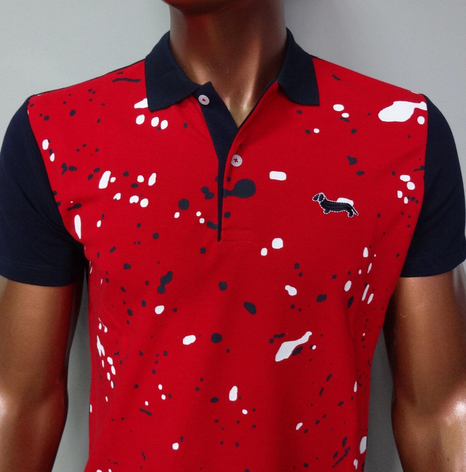 ''ON SALE'' NEW HARMONT & BLAINE red bluee polo shirt SLIM FIT sz  S;M;L;XL;XXL