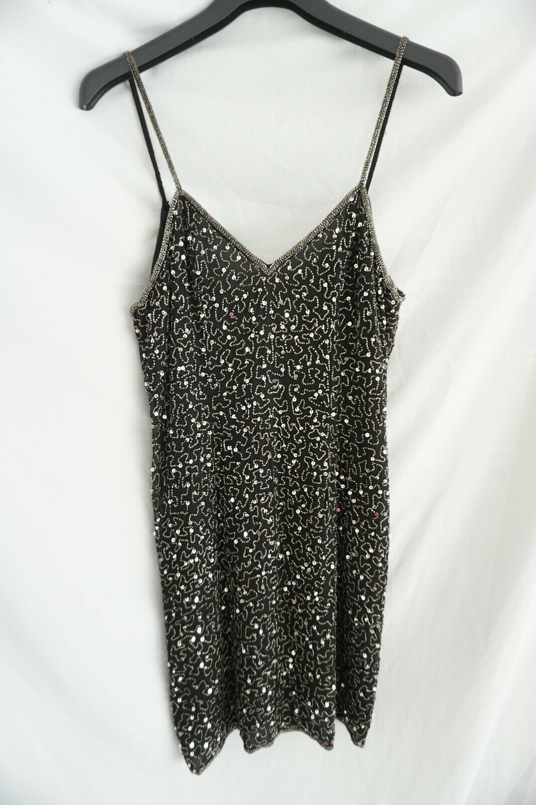 Denise Elle / Abendkleid Trägerkleid / Perlen Verziert Gr 38