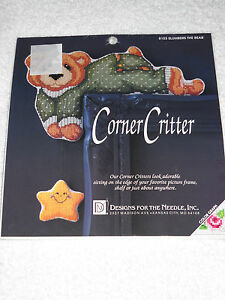 Slumbers the Bear Corner Critter Cross Stitch Kit by Designs for the Needle *