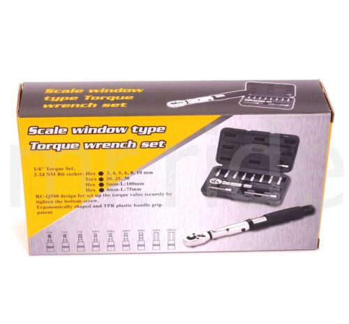 NM-Lock 2-24NM Bike reversible drive Torque Wrench Allen Key Tool Socket set kit