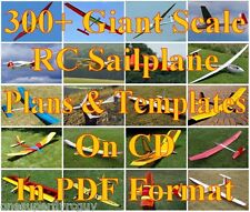 300+ Giant RC Airplanes/Gliders Full Size Plans & Templates on CD in PDF Format
