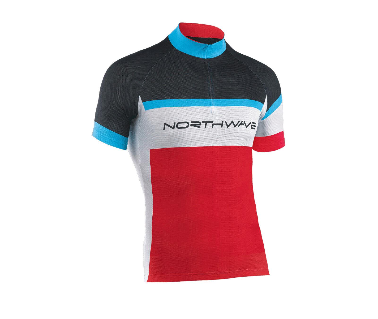 Trikot T-Shirt kurze Ärmel NORTHWAVE NORTHWAVE NORTHWAVE Bengel LOGO rot schwarz Blau JERSEY noch 903251