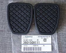 2x OEM Subaru Brake & Clutch Pedal Pad Cover Forester Impreza Legacy Outback WRX