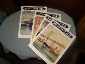 STEAMBOAT-BILL-JOURNAL-STEAMSHIP-HISTORICAL-SOCIETY-OF-AMERICA-LOT-OF-4
