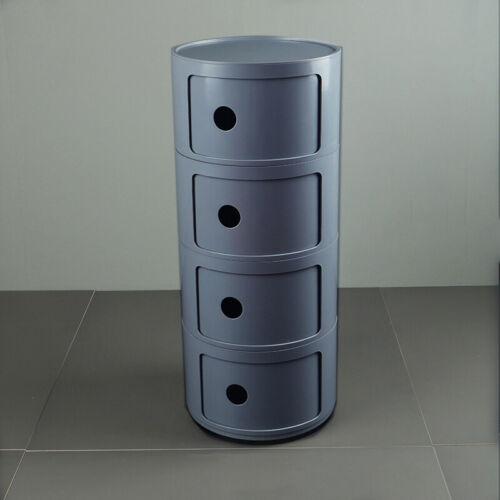 4//3//2 TIERS BATHROOM STORAGE BEDROOM CABINET DRAWER HALLWAY PLASTIC CYLINDER TUB