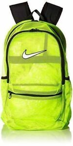 ffed4a6afb7f Nike Brasilia Mesh Backpack Volt Yellow Black Sac Gym Bag School ...